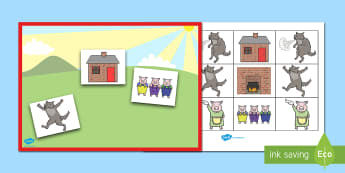 The Three Little Pigs Barrier Game - Barrier Games, EAL, speaking and listening, positional language, prepositions, language skills, list