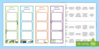 Year 2 Australian Curriculum Science Goals Bookmarks - science assessment, target, Australian science, science inquiry skills
