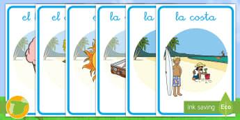 Pósters de exposición: Verano - verano, vacaciones, summer, holidays, sol, sun, playa, beach, borde, border, border, borders,Spanish