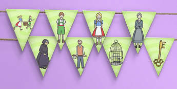 Hansel and Gretel Bunting - bunting, display, hansel, gretel