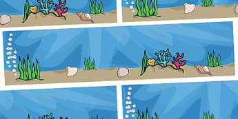 Small World Background to Support Teaching on The Rainbow Fish - The Rainbow Fish, Marcus Pfister, resources, Rainbow Fish, PSHE, PSE, octopus, shimmering scales, starfish, friendship, under the sea, sea, story, story book, story book resources, stor