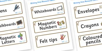 Giraffe Themed Editable Writing Area Resource Labels - Themed writing resource labels, literacy area labels, writing area resources, Label template, Resource Label, Name Labels, Editable Labels, Drawer Labels, KS1 Labels, Foundation Labels, Foundatio