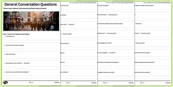 Liste de questions de conversation : Ma maison, ma ville, mon environnement et ma région - french, Conversation, Speaking, Questions, Teschnology, Technologie, Social Media, Mobile, Internet, Computer, Ordinateur, Portable, Réseaux, Sociaux