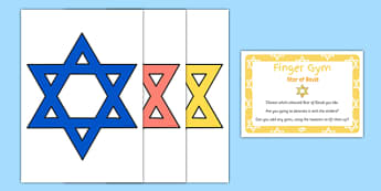 EYFS Star of David Finger Gym Resources - eyfs, star of david, finger gym, resources