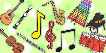 Music Display Cut-Outs - music display, cutouts, cutting skills
