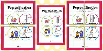 Personification Poster - KS2 literacy, display, posters, literacy