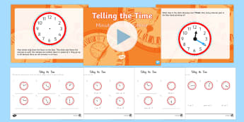 Telling the Time Minutes Past the Hour Differentiated Lesson Teaching Pack - New Zealand, maths, time, clocks, minutes, hours, Years 1-3, age 6, age 7, age 8, telling the time,