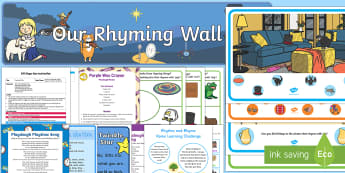 Childminder Rhythm and Rhyme EYFS Resource Pack - Phase 1, Aspect 4, Rhythm, Rhyme, letters and sounds, phonics, rhyming, rhyming string