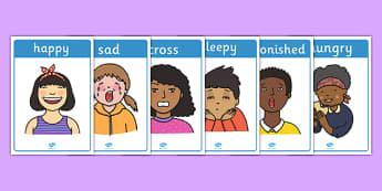 Emotions Display Posters - Emotions, Feelings, Special Needs