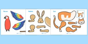 Split Pin (Pets) - education, home school, kids, free, fun, craft