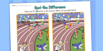 The Commonwealth Games Spot the Difference - sports, pe, games