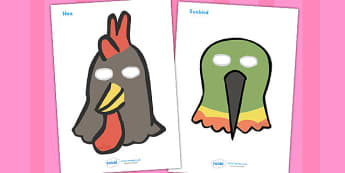 African Hen Story Role Play Masks - activity, activities, games