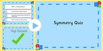 Symmetry PowerPoint Quiz - symmetry, powerpoint, quiz, maths