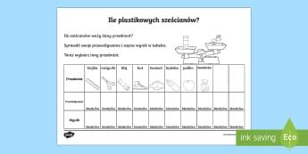 Karta Ile plastikowych sześcianów? - weight, ważenie, zważ, matematyka, waga, oblicz, liczenie,Polish
