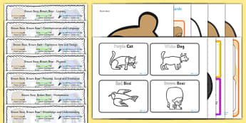 Brown Bear Brown Bear Lesson Plan and Enhancement Ideas EYFS - brown bear brown bear, lesson plan ideas, lesson plans, lessons ideas, EYFS, themed lessons, EYFS lessons