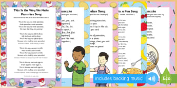 Pancake Day Songs and Rhymes Resource Pack - Shrove Tuesday, pancake day, rhymes, songs, resource, pack