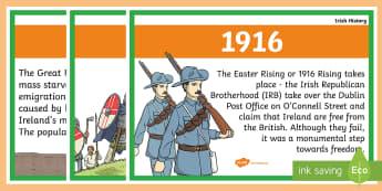 Basic Irish History Timeline Posters A4 - Irish history, timeline, history display, timeline posters