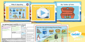 PlanIt - DT KS1 - The Lighthouse Keeper's Lunch Box Lesson 6: Improving the Lunch Box Lesson Pack