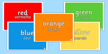 Colours Display Pack Portuguese Translation - portuguese, colours, display pack, display, pack