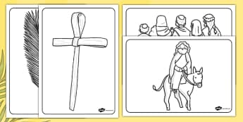 Palm Sunday Colouring Sheets - palm, Sunday, colouring, sheets