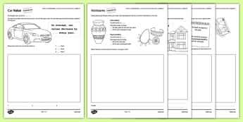 Student Led Practice Sheet Budget at Home Compound Interest and Depreciation - KS3, KS4, GCSE, Maths, Finance, Budget, Home, independent learning, growth mindset, practise, assessment