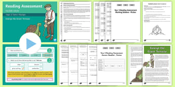 Year 3 Term 1 Fiction Reading Assessment Guided  Lesson Teaching Pack - Year 3, Year 4 & Year 5 Reading Assessment Guided Lesson PowerPoints, KS2, reading, read, assessment