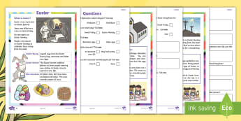 Easter Differentiated Comprehension Go Respond Activity Sheets - KS1, Key Stage One, Year 1, Year 2, Easter, Easter Story, Easter Sunday, Good Friday, Easter Monday,