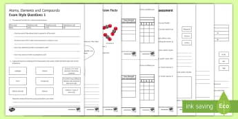 Atoms, Elements and Compounds Assessment Package - Assessment Package, atoms, elements, compounds, solid, liquid, gas