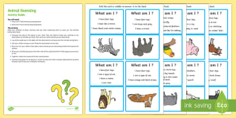 Animal Guessing Game Busy Bag Resource Pack for Parents - Phase 1, Aspect 1, General Sound Discrimination, Environmental Sounds, phonics, letters and sounds,