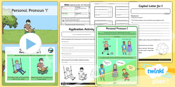 PlanIt Y1 SPaG Lesson Pack: Personal Pronoun I - planit, spag, lesson, pack, personal, pronoun