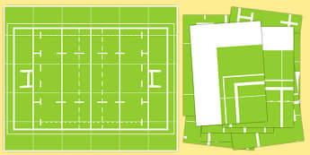 Rugby Pitch Bee Bot Game Mat - rugby pitch, beebot, bee bot, bee-bot, game, mat