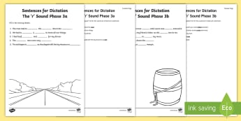 Northern Ireland Linguistic Phonics Stage 5 and 6, Phase 3a and 3b, 'r' Dictation Sentences Activity - Linguistic Phonics, Stage 5, Stage 6, Phase 3a, Phase 3b, Northern Ireland, sentences, dictation, wo