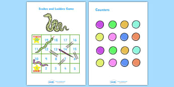 Snakes And Ladders (1-20) - snakes and ladders, 1-20, game, activity, numeracy, maths, calculation