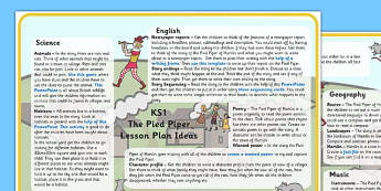 The Pied Piper Lesson Plan Ideas KS1 - pied piper, lesson plan, ideas