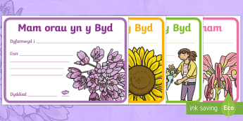 Sul y Mamau Tystysgrifau - Sul y Mamau, Mothers Day, gwobr, prize, tystysgrif, certificate, mam orau, best maum, amazing mum, m