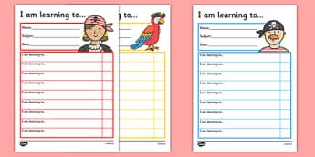 Pirate Themed Target and Achievement Sheets - pirate, target and achievement, target, achievement, sheets
