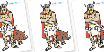 Connectives on Vikings - Connectives, VCOP, connective resources, connectives display words, connective displays