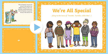 We're All Special Song PowerPoint
