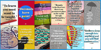 Maths Quote Wall Posters - maths quotes, famous maths quotes, quotes about maths, maths display posters, math quote posters, great quotes about maths, ks2