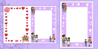 Editable Mother's Day Card Insert Template - editable, valentines day, card, insert, template
