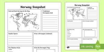 Norway Snapshot Fact File - CfE Social Studies resources, Norway, Norway Snapshot, fact file, Norwegian fact file, facts about N