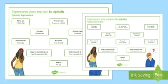 Opinion Phrases Word Mat Spanish - spanish, opinion phrases, word mat, word, mat, opinion, phrase