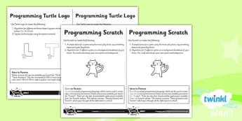 PlanIt - Computing Year 2 - Programming Turtle Logo and Scratch Unit Home Learning Tasks