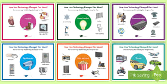 How Has Technology Changed Our Lives? Display Posters - CfE Digital Learning Week (15th May 2017) Digital learning and teaching strategy, digital difference