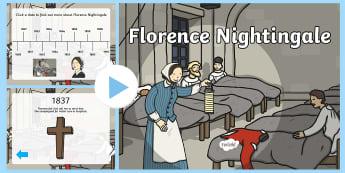 Florence Nightingale Timeline PowerPoint - florence nightingale, florence nightingale powerpoint, florence nightingale timeline, timeline powerpoint