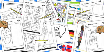 Ks1 Symmetry Activity Resource Pack - activities, games, game
