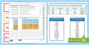 Fronted Adverbials KS2 - English Resources, English, literacy, writing, SPaG, adverbs, ks2,