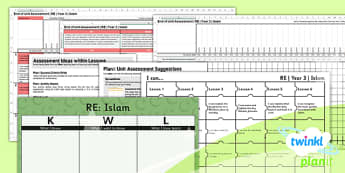 PlanIt - RE Year 3 - Islam Unit Assessment Pack - planit, re, religious education, year 3, islam, assessment pack