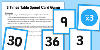 3 Times Table Speed Game - 3 times table, 3, times table, speed game, game, activity