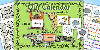 Jungle Themed Display Calendar - jungle, jungle themed, display calender, display, calender, jungle calender, jungle display, jungle display calender